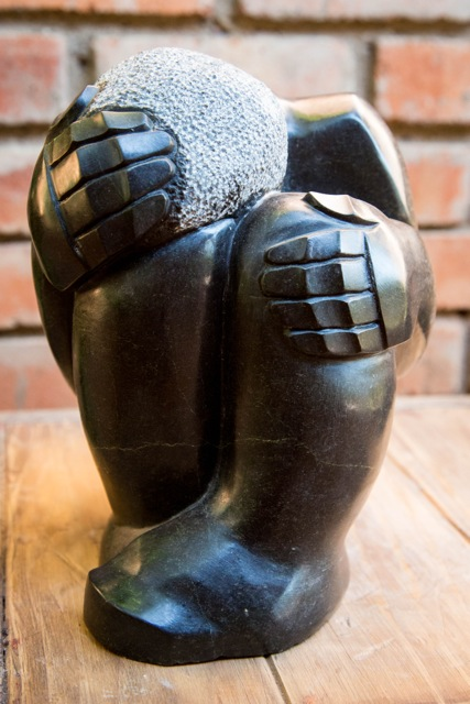 BENJAMIN KATIYO - BE HAPPY - Zimbabwe stone sculpture