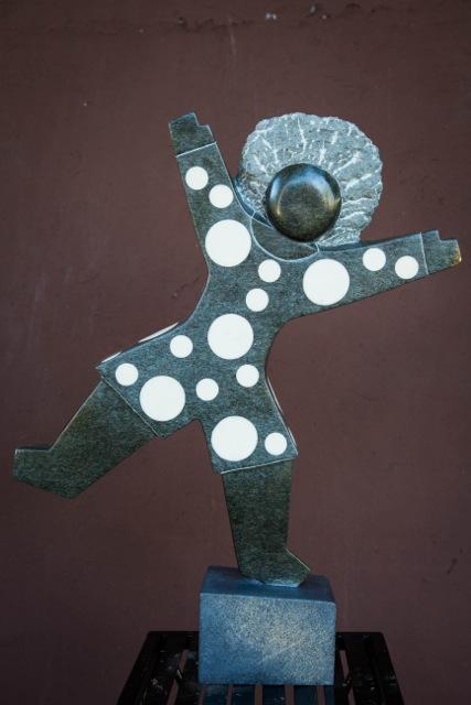 DOMINIC BENHURA - SCHOOLS OUT - Zimbabwe stone sculpture