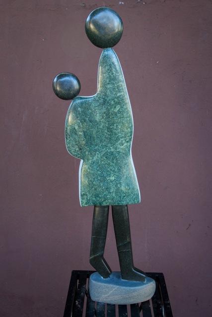 GODFREY MARUFU - FAMILY BONDS -Zimbabwe stone sculpture