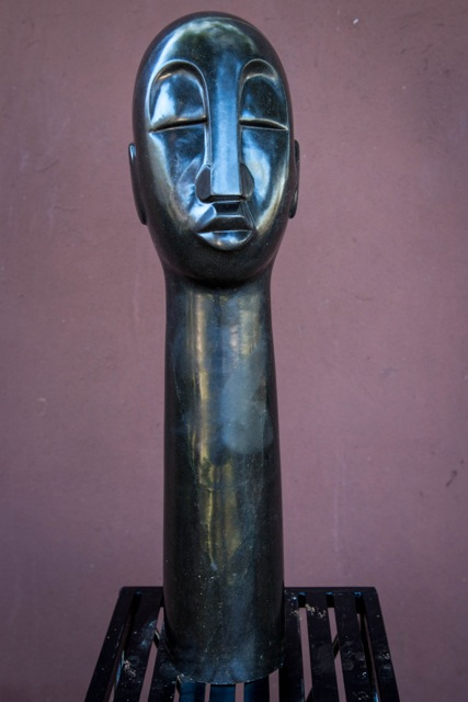 JOHN GUTSA - FACE OF AFRICA - Zimbabwe stone sculpture