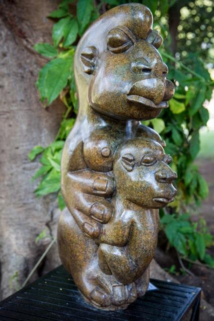Bernard Matamera - New Life - Zimbabwe stone sculpture